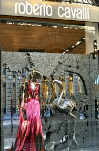 The shop window of Cavalli's atelier