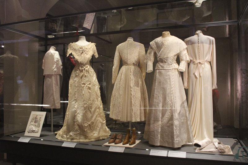 Gowns in the Textile Museum of Prato