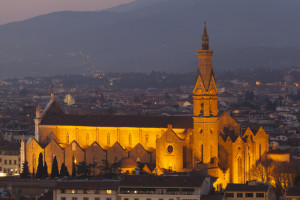 One of the thousands churches of Florence: S. Croce