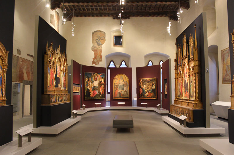 The inside of the Museum of Palazzo Pretorio