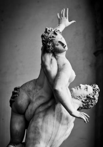 """The rape of a Sabine woman"" by Giambologna"