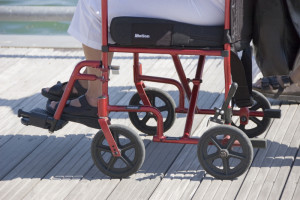 Moving on a wheelchair