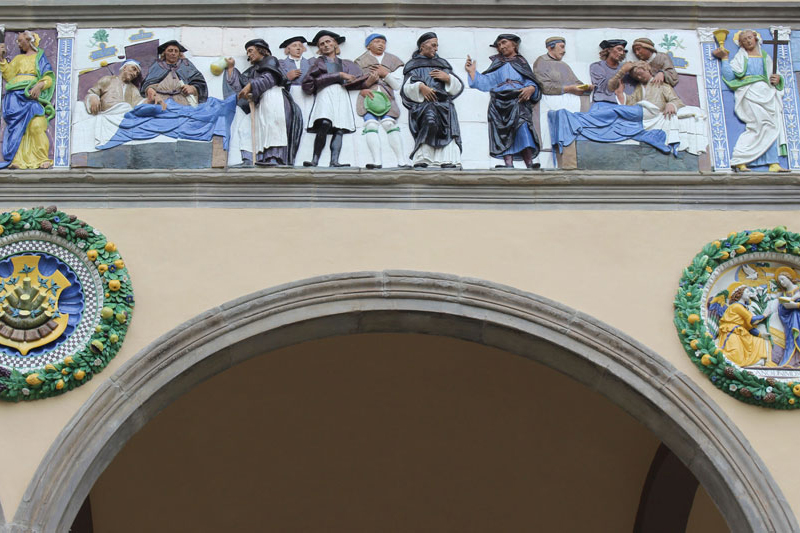 The Frieze of the Ceppo Hospital in Pistoia